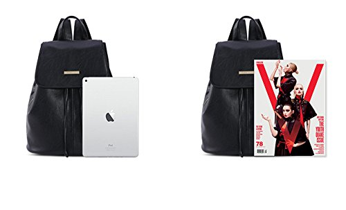 Bwiv PU Damen Rucksäcke Schulrucksack Vintage Schultertasche Daypack Outdoor Backpack Tasche für Retro Reisetaschen Lässige A A