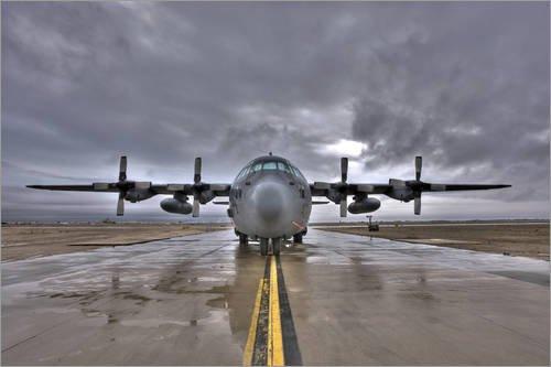 Posterlounge Forex-Platte 30 x 20 cm: C-130 Hercules von Terry Moore/Stocktrek Images