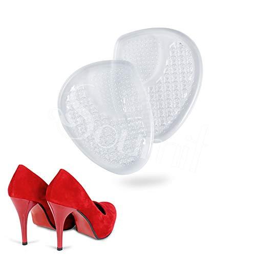 TXGLGWA Gel de Silicona Zapatos de tacón Alto Almohadillas Antideslizantes Mujeres Plantillas de Almohadilla metatarsiana Antideslizante Alivio para el Dolor Suela Plantillas