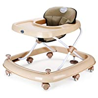 Fascol Baby Walker with Brake Folding & Height-Adjustable Walker for 6-18 Months Baby Maximum Load 15 kg