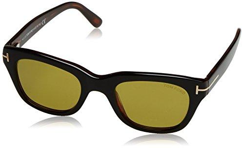 Tom Ford Herren FT0237 05N 50 Sonnenbrille, Schwarz (Nero)