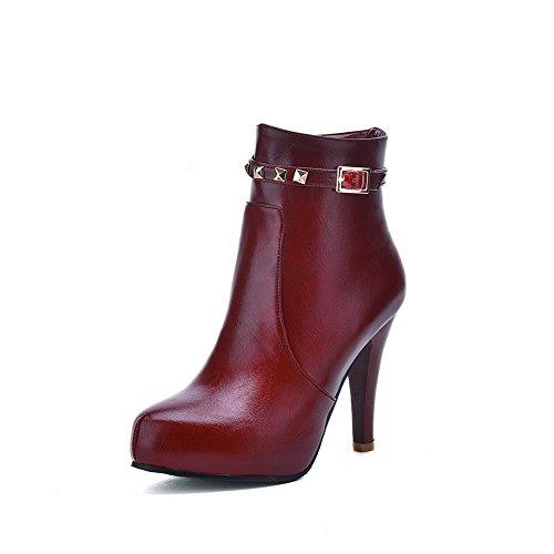 Balamasa - Bottes Motardes Pour Femmes Rouges