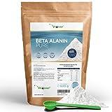 Vit4ever® Beta Alanin Pure - 600 g reines Pulver ohne Zusätze - Laborgeprüft - +99% Reinheit - 100% Beta Alanine Aminosäure - Vegan - ohne Zusätze