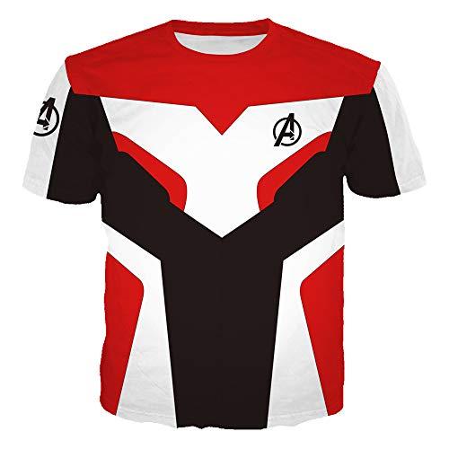 WTZFHF Unisex 3D T-Shirt Sport Top, Film Cosplay Avengers Quantum Krieger T-Shirt Sommer Für Männer Frauen Mode