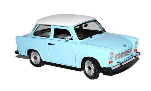 Trabant 601 Limousine Blau mit Weißem Dach 1/24 Welly Modell Auto