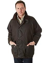 Wollaton Sherwood diseño de madera envejecida chaqueta de hípica para niños Unisex cera para esquís y bosque, unisex, color marrón - marrón oscuro, tamaño 3XL