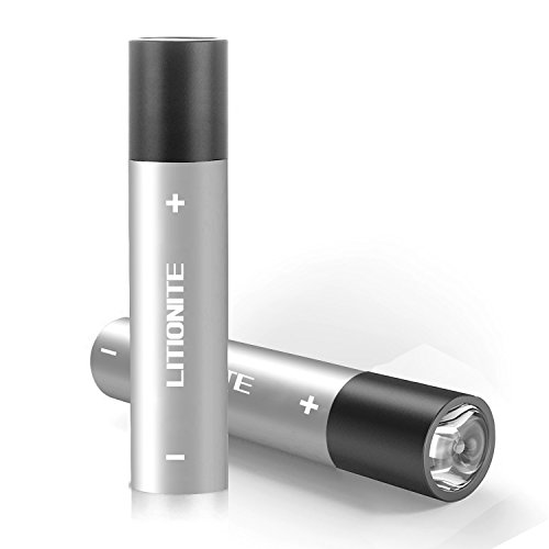 Litionite Blaze 3200mAh Mini Power Bank - 3 in 1 Ladegerät USB/LED-Taschenlampe/Karabiner-Schlüsselanhänger - Tasche tragbarer Externer Akku Batterie Notfall für Smartphone/Tablet (Silver)