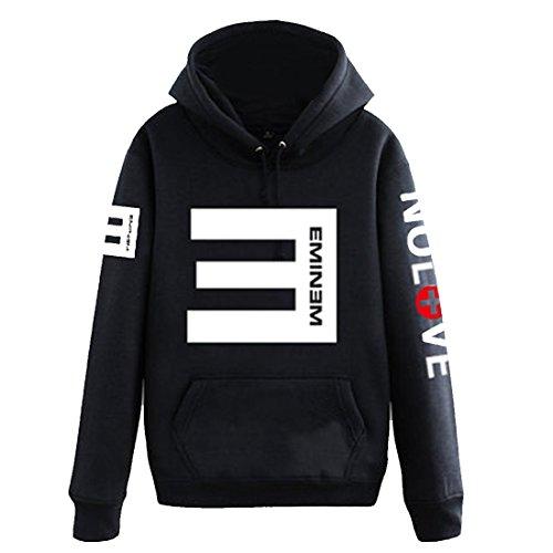 n Sport Casual Hip Hop Sweater Hoodie Kapuzenpullover Schwarz Cosplay Kostuem, Tag 2XL/EU L,Black (Hip-hop-kostüme Für Jungen)