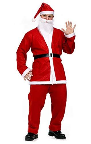 Taglia Unica - Costume - Babbo Natale - Adulto - Uomo - Travestimento -  Carnevale - 50586c01a4b6