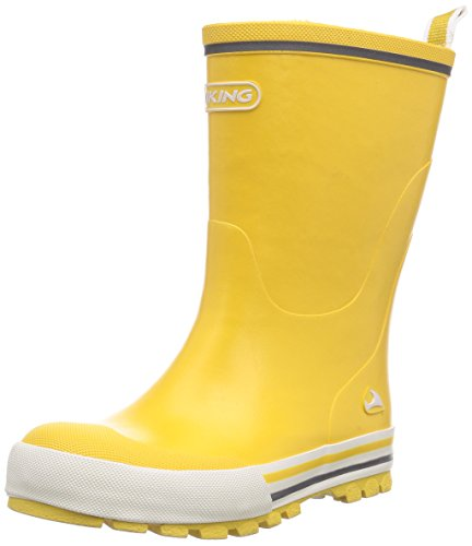 Viking Unisex-Kinder Jolly Gummistiefel, Yellow, 35 EU