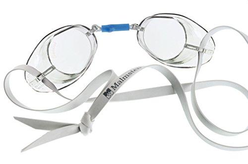 Malmsten Schwedenbrille Standard Schwimmbrille, Weiß/farblos, Einheitsgröße