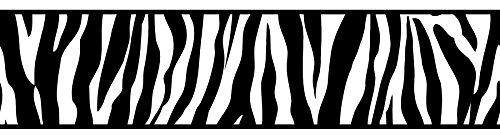 BHF fdb50031CERAMICA Animal Print Bordüre, selbstklebend, Küche und Bad–Schwarz/Weiß