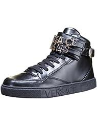 Versace JeansLinea Sneaker Lettering Coating Black - Botines hombre