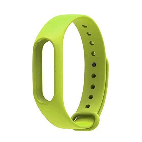 Mstick Wrist Strap Band Belt Wristband Silicone Wearable Case Cover For Xiaomi Mi Band 2,Parrot Green  available at amazon for Rs.199