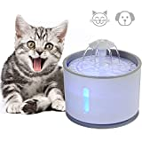 WooyMo LED Luminous Pet Drinking Fountain, Automatic 2.4L Water Dispenser With Purified Fresh Activated Carbon Filters And With Water Level Window For Cats And Dogs, Rabbits
