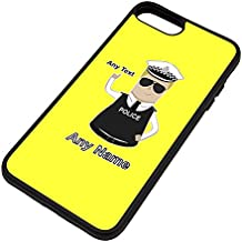 Personalised Gift - Traffic Officer (Chief) Superintendent iPhone 8 Plus / iPhone 7 Plus Case (Police Design Theme, Colour Options) - Any Name / Message on Your Unique - Super Supt SP CS - Blonde / Yellow Hair Policeman Hat Cap