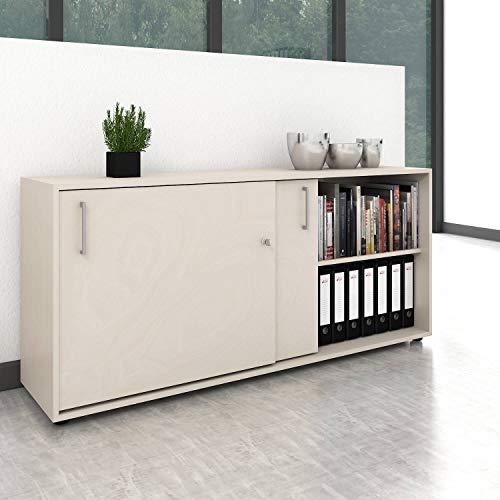 Schiebetürenschrank Sideboard NOVA 2OH 1.640 x 400 mm Ahorn -