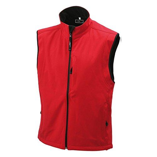 JAMES & NICHOLSON Trendige Weste aus Softshell Red