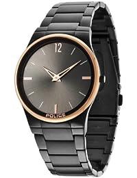 Police.  12744JRSBR/61M - Reloj de cuarzo para hombre, con correa de acero inoxidable, color negro