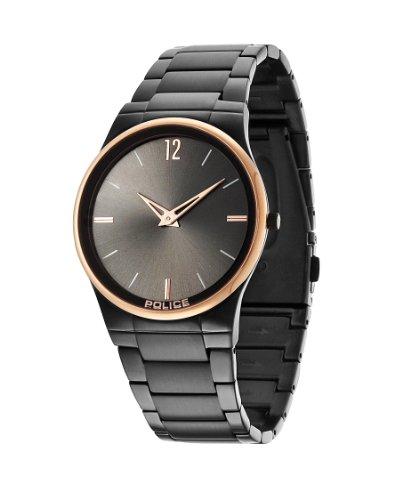 Police Herren-Armbanduhr XL Analog Quarz Edelstahl beschichtet PL.12744JRSBR/61M
