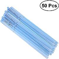 Healifty 50pcs cera de abeja vela conos kit de eliminación de vela de cera del oído (azul)