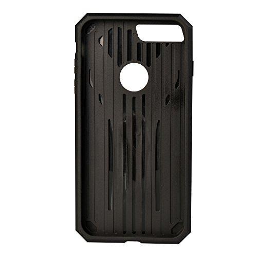 """MOONCASE iPhone 7 Plus Coque, Robuste Armure Hybride Anti-chocs Housse Etui Protection de Double Couche d'Armure Lourde Case avec Béquille pour iPhone 7 Plus 5.5"""" Rose Or Rose Or"""