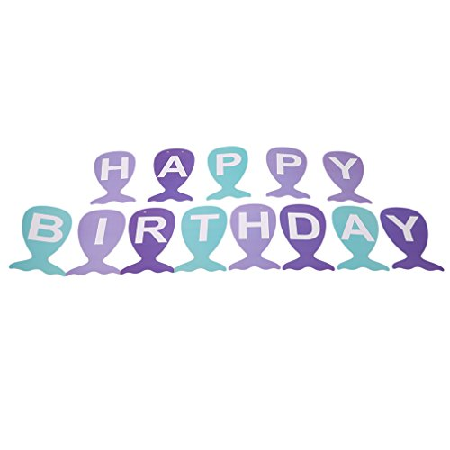 Yinew Bildfarbe Meerjungfrau Schwanz Form Geburtstag Party Pull -