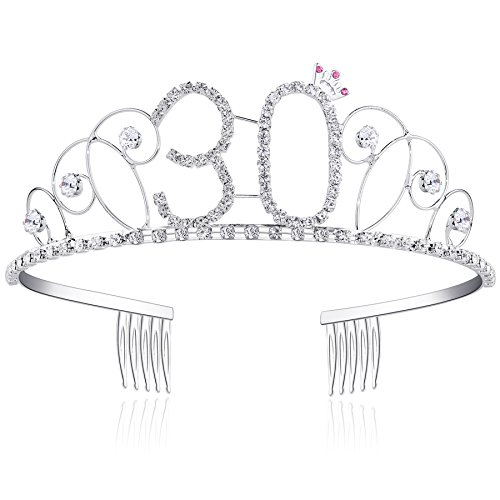 BABEYOND Tiara Cristal Cumpleaños Corona Cumpleaños