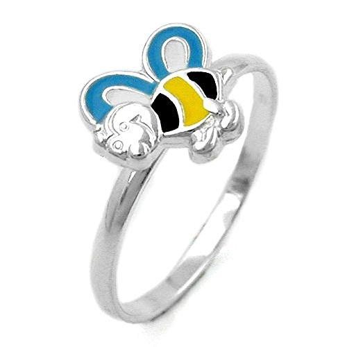 bague-abeille-yellow-blue-argent-925