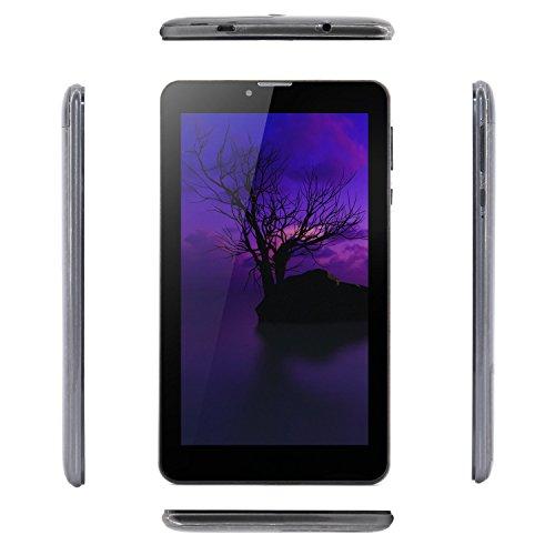 Tablet de 7 pulgadas Android 6.0 Wifi Tablet PC 3G desbloqueada MTK8321 Cortex A7 Quad core 1.3Ghz IPS pantalla 600 × 1024 1 GB de RAM 8 GB ROM con doble cámara  teclado  Bluetooth  HDMI  Wifi y GPS   Gris