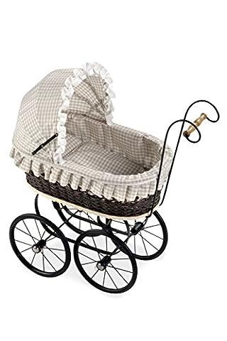 Arias 62 x 30 x 66 cm Elegance Doll Wicker Cart
