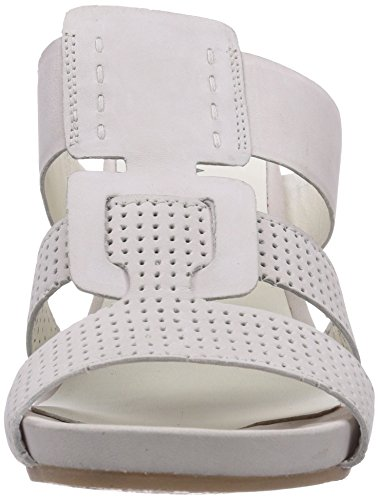 Marc Shoes 1.443.04-21/210-joana, Chaussures de Claquettes femme Blanc - Blanc cassé/argenté
