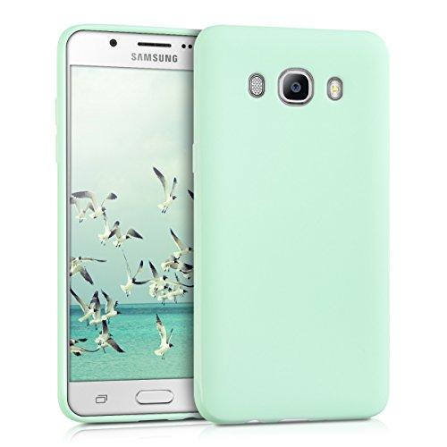 kwmobile Funda para Samsung Galaxy J5 (2016) DUOS - Carcasa para móvil en TPU Silicona - Protector Trasero en Menta Mate