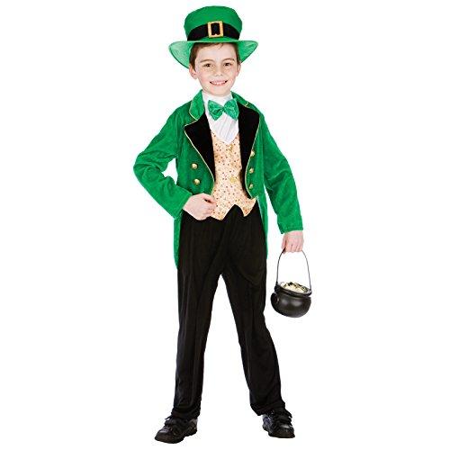Deluxe Leprechaun Boy (5-7) Kids Fancy Dress Costume