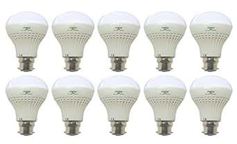 Mehai 9 W Plastic LED Bulb(Cool Day Light,Pack Of 10)
