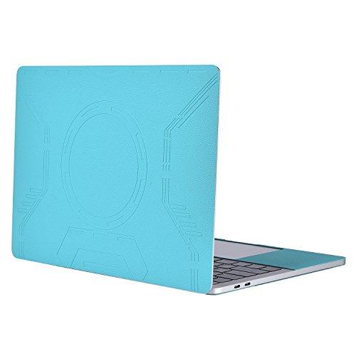 MOSISO Decal Sticker Kompatibel MacBook Pro 13 2018&2017&2016 Freisetzung A1989/A1706/A1708 - Abziehbild PU Leather Aufkleber Skin Kompatibel MacBook Pro 13 Zoll, Heiss Blau Kreis