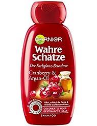 Garnier Wahre Schätze Shampoo, Intensive Haarpflege bis in die Spitzen, Schützt die Haarfarbe (mit Argan-Öl & Cranberry - für coloriertes oder gesträhntes Haar) 1 x 250 ml)