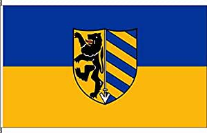 Tischfähnchen Brüggen-Ort - Tischflaggenständer aus Chrom