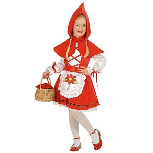 Costume vestito abito travestimento carnevale bambina cappuccetto mantellino rosso