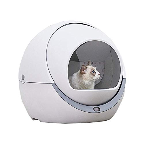 ZZQ Gabbia Automatica per Gatti Automatica Cat Sandbox induzione Pulizia rotativa Cat Robot lettiera Grande Kitty lettiera autopulente