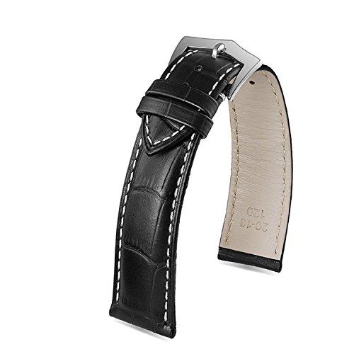 14mm-brillant-bracelets-de-montres-veau-noir-remplacement-en-cuir-pour-les-femmes-blanches-coutures-