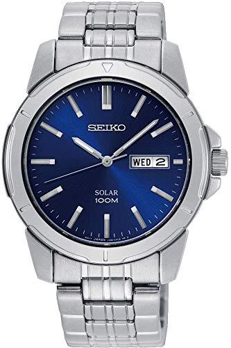 Seiko Herren Analog Quarz Uhr mit Edelstahl Armband SNE501P1 (Seiko Solar Herren-uhr)
