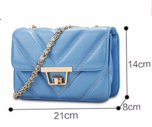 55e2d07404fd5 ... Leder Handtasche mit kleiner Tasche chain Package fashion Schaffell leder  tasche Mini Beutel