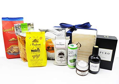 Gourmood eccellenze enogastronomiche 100% made in italy gourmet cesto regalo enogastronomico qualità ed eccellenza confezione legno serigrafato con fiocco prodotti selezionati bio gluten free