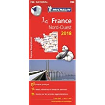 Carte France Nord-Ouest Michelin 2018