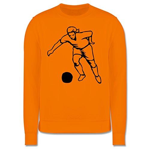 Fußball - Fußball - Herren Premium Pullover Orange