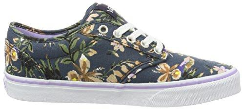 Vans Wm Atwood, Sneakers Basses Femme Bleu (Floral Dark Blue/lavender)