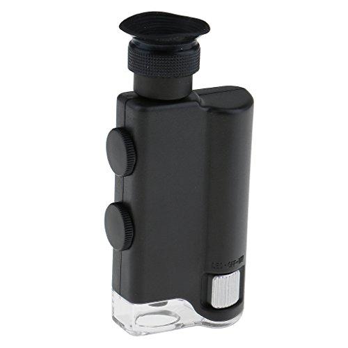 Sharplace LED Taschen Mikroskop 200x - 240x Lupe Vergrößerungsglas Handlupe Juweliere Lupe