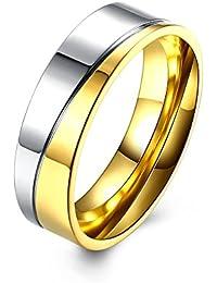 YXYP Impression Anillo de moda Anillo de bodas Joyas para pareja Anillos de pareja Lujoso anillo