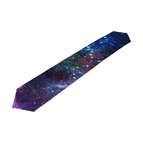 alaza Colorful Galaxy Nebula Etoiles Univers de Table 13 x 70 Pouces Table Polyester Haut Décoration Home Décor
